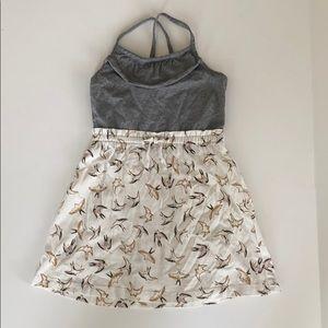 Hanna Anderson 100 4t summer dress grey with birds